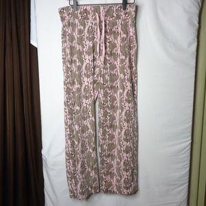 Mossy Oak Pin  & Brown Elastic Waist Sleep Pants
